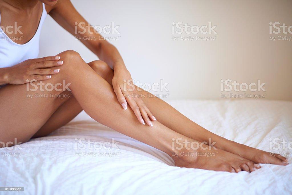 Waking up to gorgeous skin stock photo