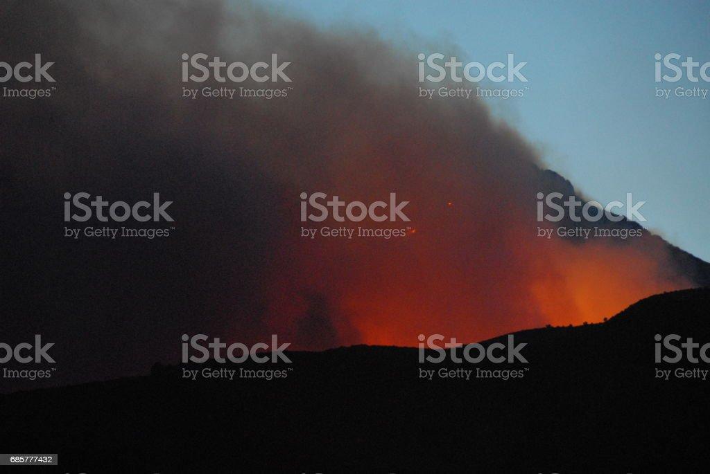 Waldbrand in Spanien royalty-free stock photo