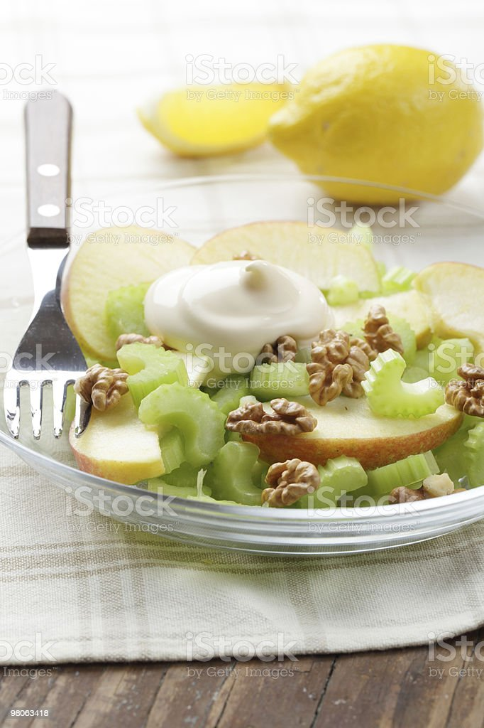 Waldorf salad royalty-free stock photo