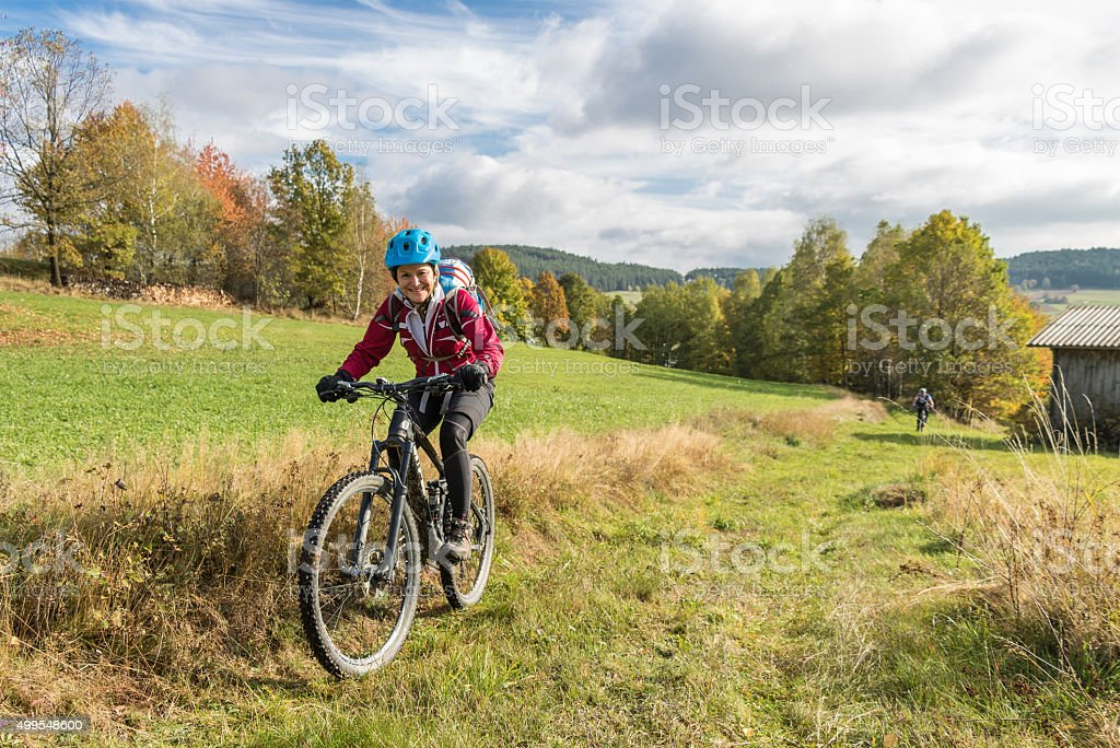 Waldviertel Autumn Biking, Lower Austria stock photo