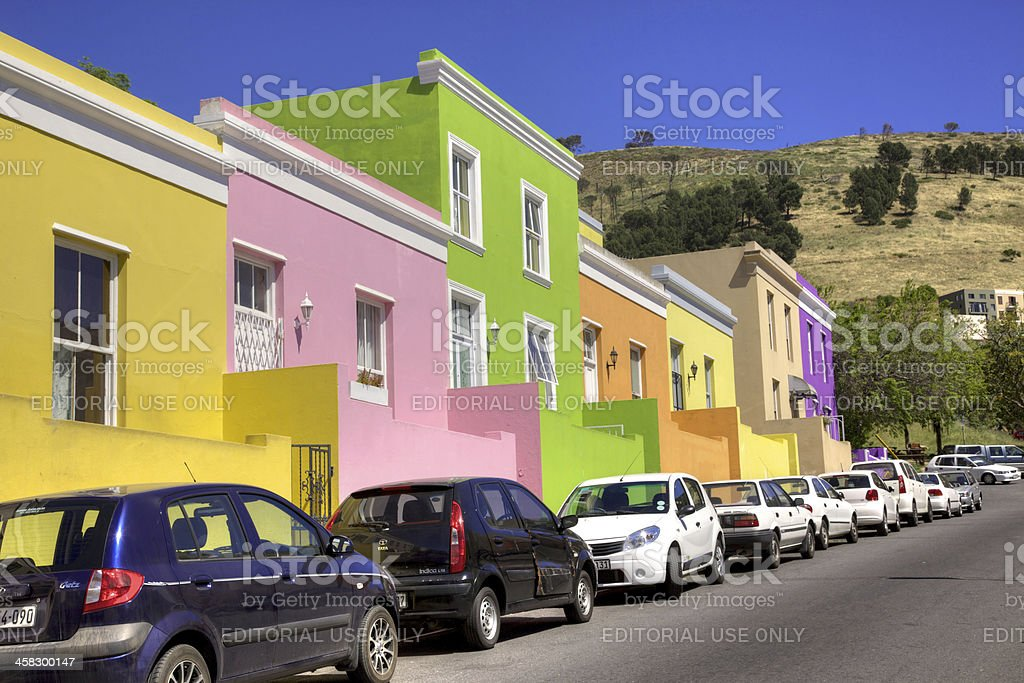 Wale Street, Bo Kaap stock photo