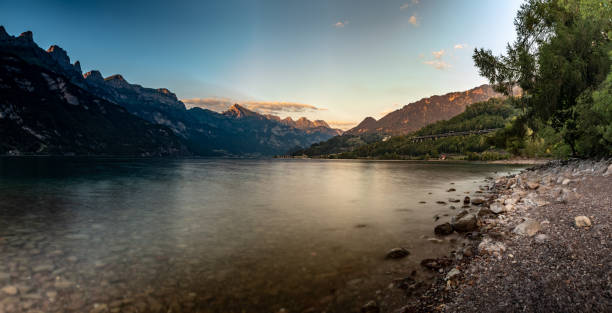 Walensee Summer view stock photo