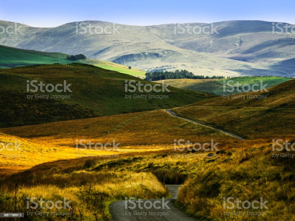 Wales Cambrian mountains stock photo