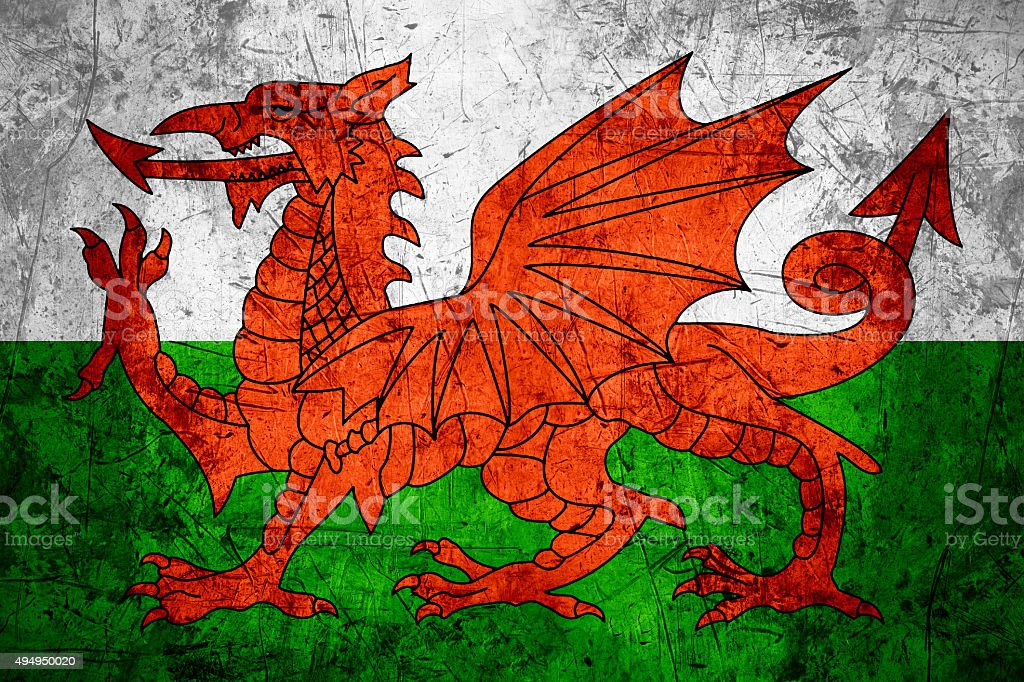 Wales flag stock photo