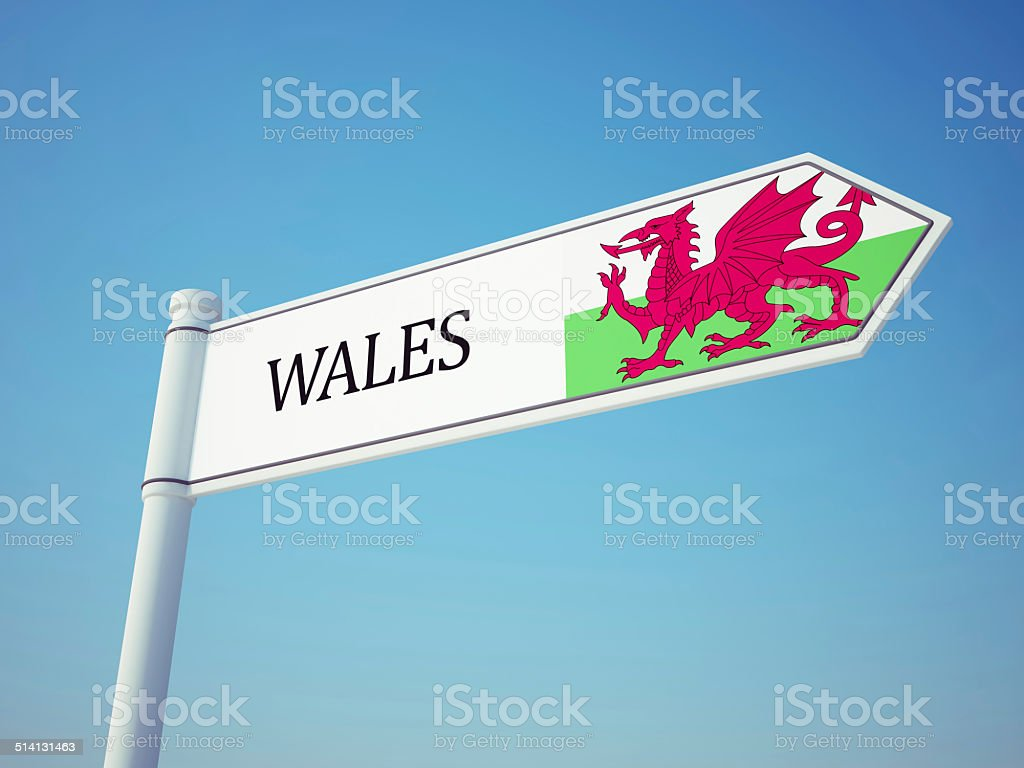 Wales Flag Sign stock photo