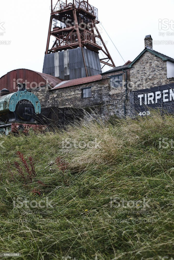Wales industrial heritage of coal mining stock photo