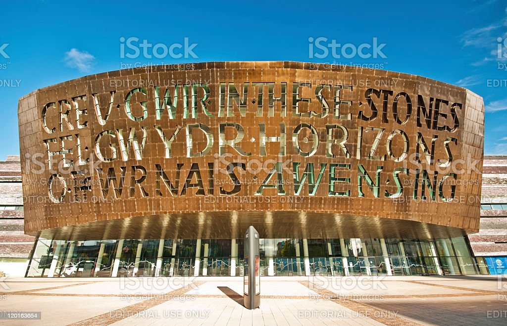 Wales Millennium Centre, Cardiff, UK stock photo