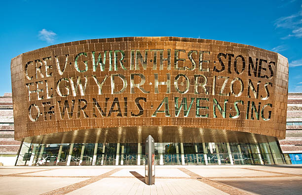 Wales Millennium Centre, Cardiff, UK stock photo