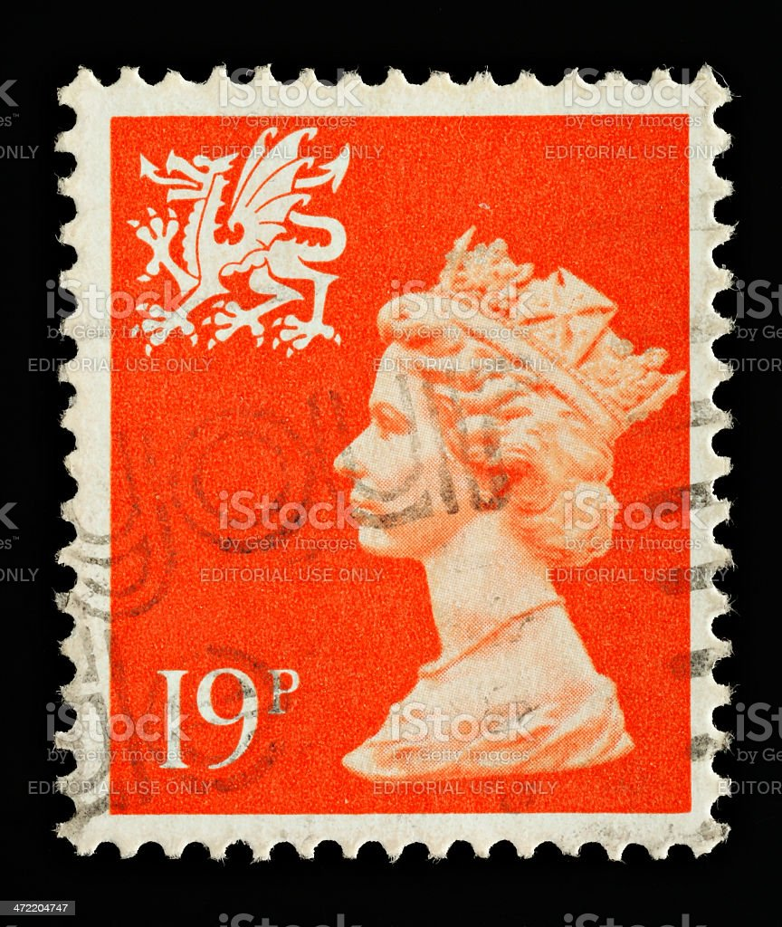 Wales Postage Stamp stock photo