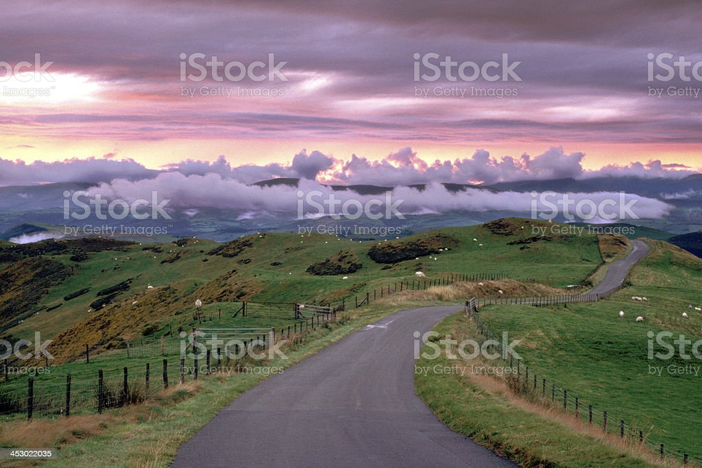 Wales, Powys, near Machynlleth stock photo