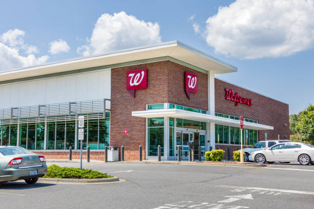 Walgreens Pharmacy building stock photo