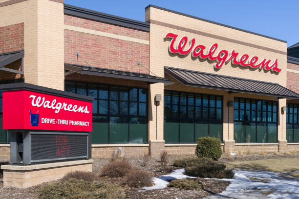 Walgreens Store Exterior and Sign stock photo