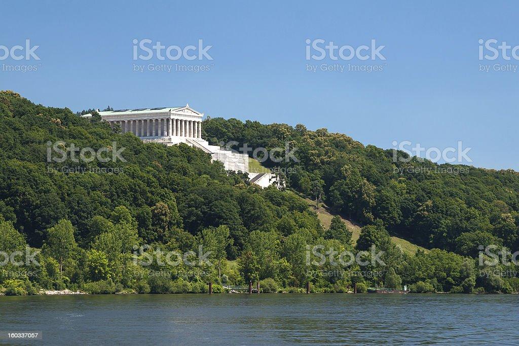 Walhalla at the river Donau stock photo
