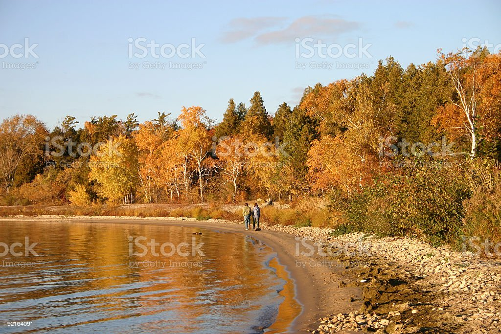 Walk along the beach royalty-free stock photo