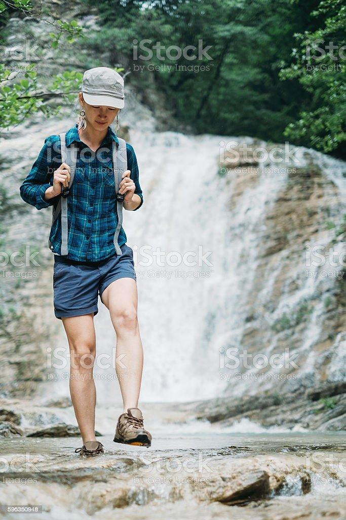 Walk along the river royalty-free stock photo