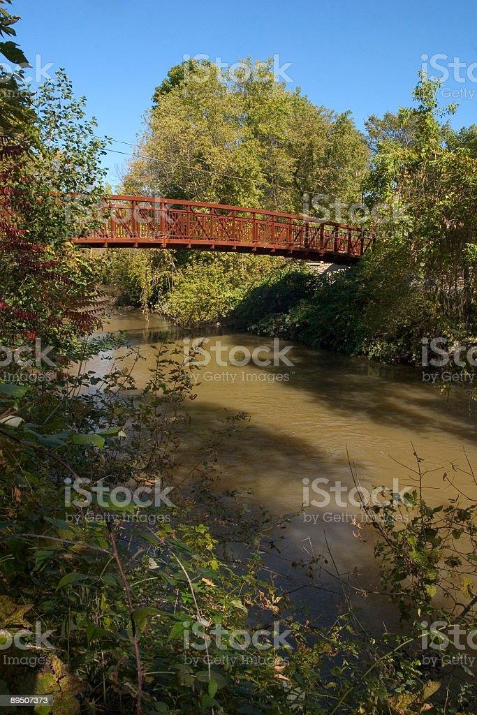 Walk Bridge Over River royalty-free stock photo
