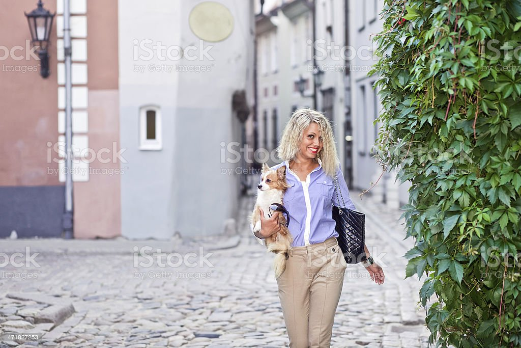 Walk in an old city royalty-free stock photo