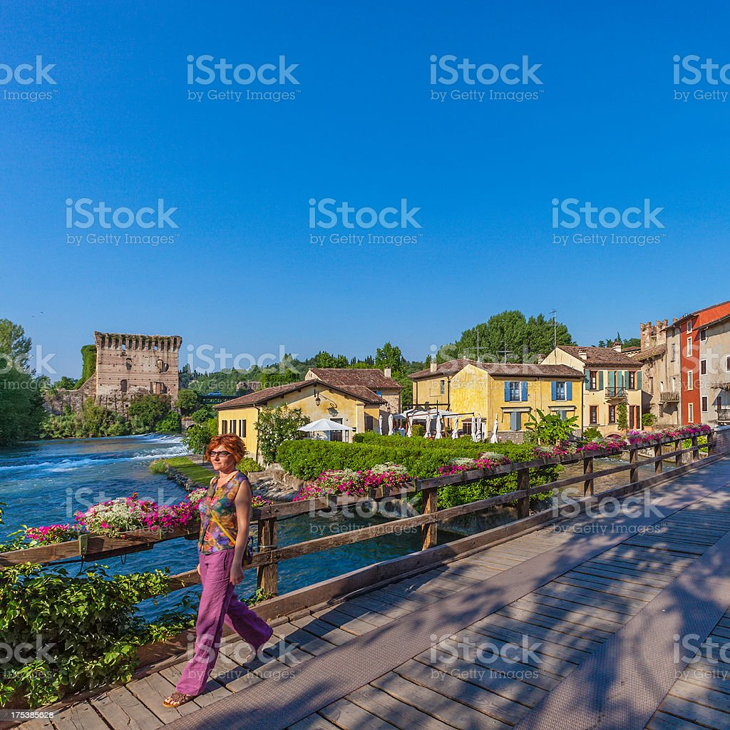 Walk in Borghetto, Italy royalty-free stock photo