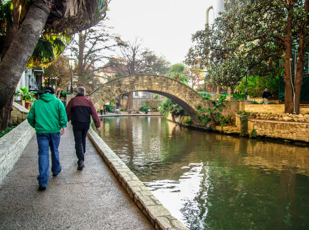 Walk in the center of San Antonio, Texas, U.S.A. stock photo