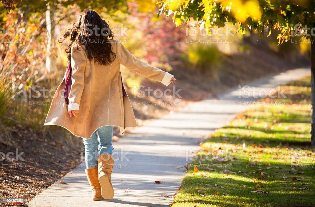 Walk In The Fall stock photo