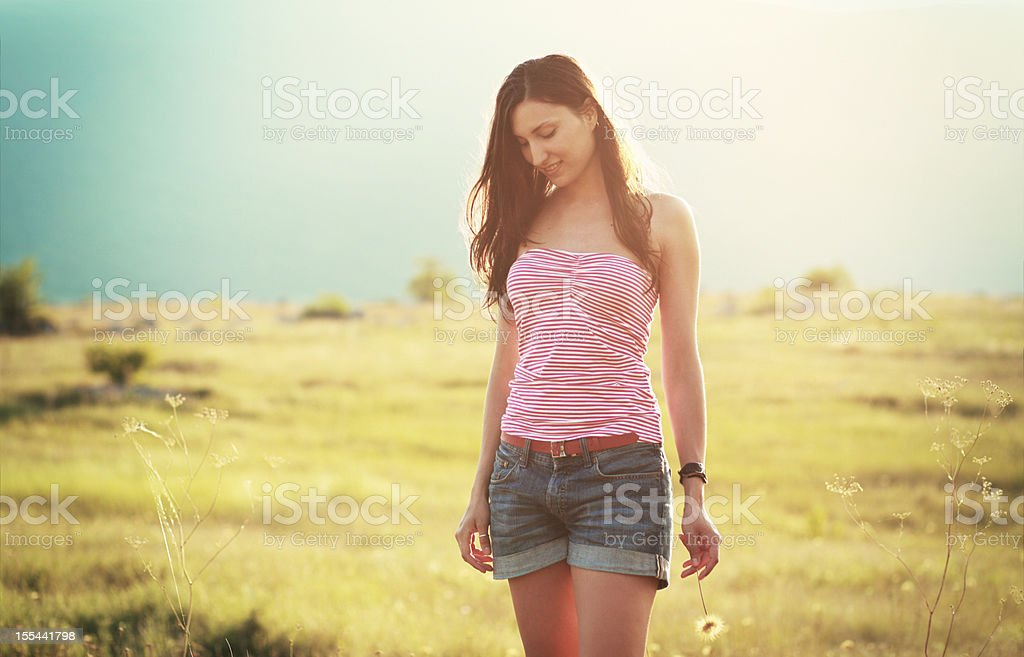 Walk in the nature royalty-free stock photo