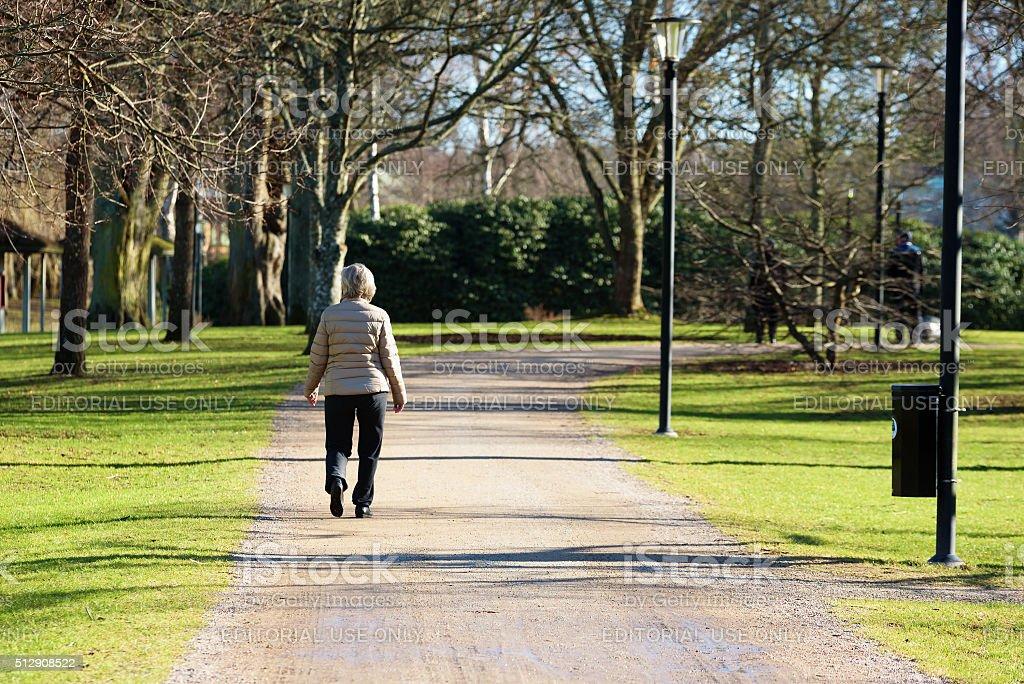 Spaziergang im park – Foto