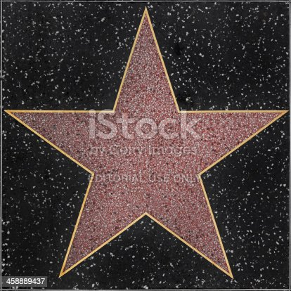 Hollywood, USA - April 18, 2014: Stan Lee star on Hollywood Walk of Fame in Hollywood, California. This star is located on Hollywood Blvd. and is one of over 2000 celebrity stars embedded in the sidewalk.
