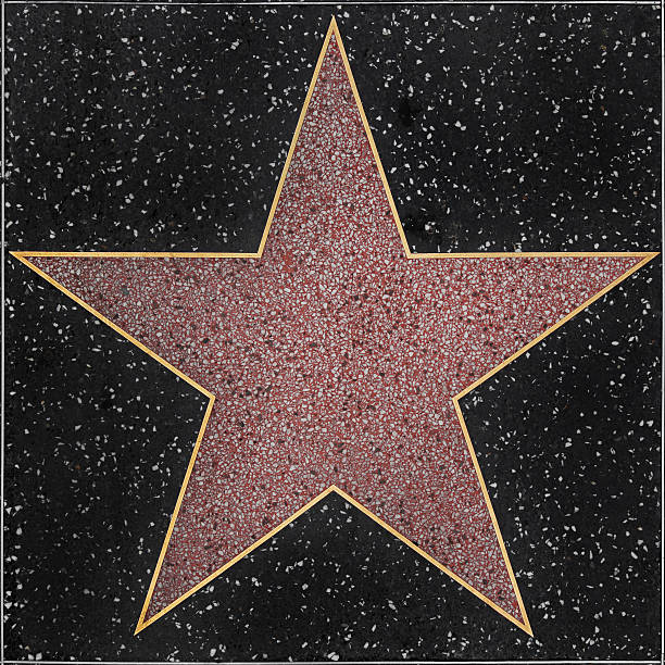 walk of fame hollywood blank star - celebrities stock pictures, royalty-free photos & images