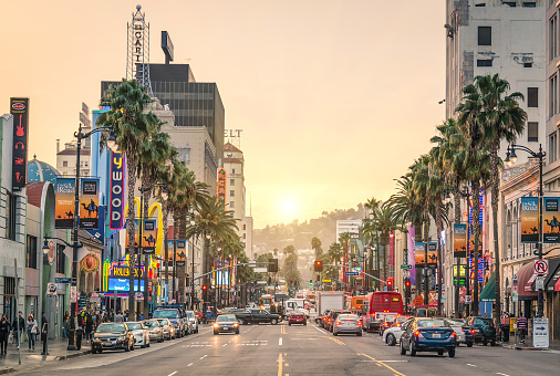 Walk Of Fame Hollywood Boulevard In Los Angeles Stock Photo - Download Image Now