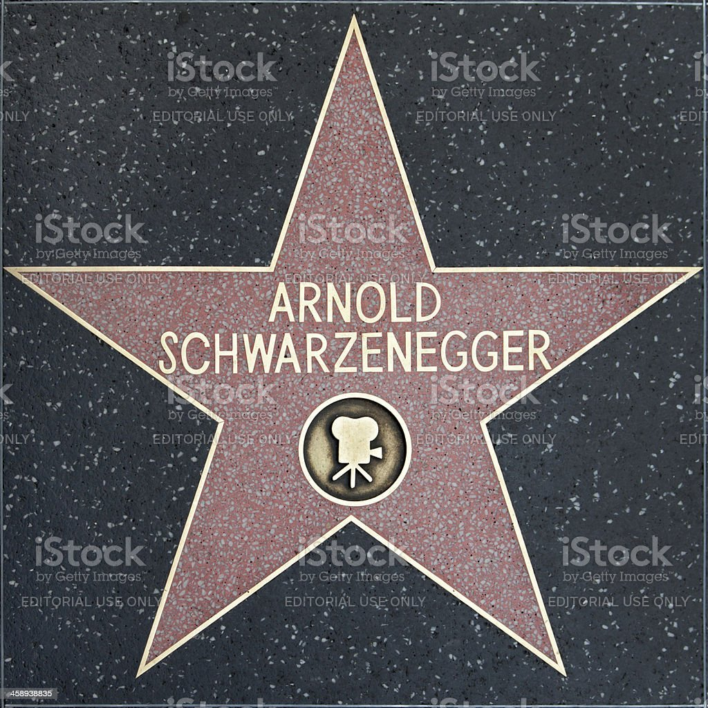 Walk of Fame Hollywood Star - Arnold Schwarzenegger stock photo