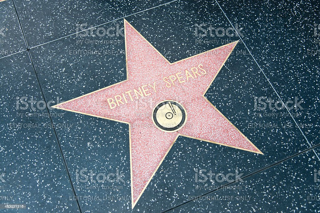 Walk of Fame Hollywood Star - Britney Spears stock photo