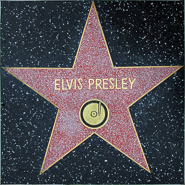 walk of fame hollywood star - elvis presley - elvis stock photos and pictures