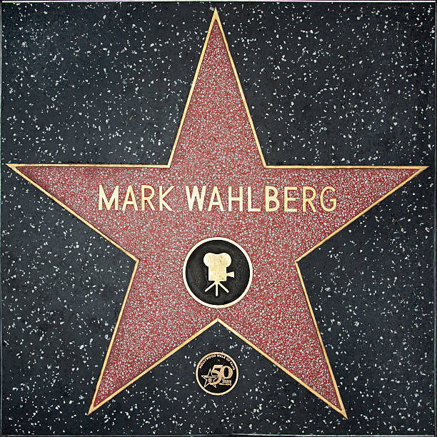Walk of Fame Hollywood Star - Mark Wahlberg  hollywood boulevard stock pictures, royalty-free photos & images
