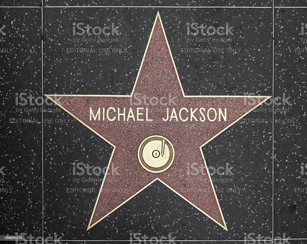 Walk of Fame Hollywood Star - Michael Jackson stock photo