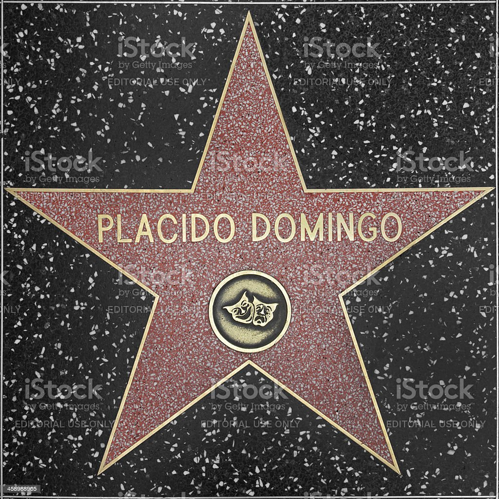 Walk of Fame Hollywood Star - Placido Domingo royalty-free stock photo
