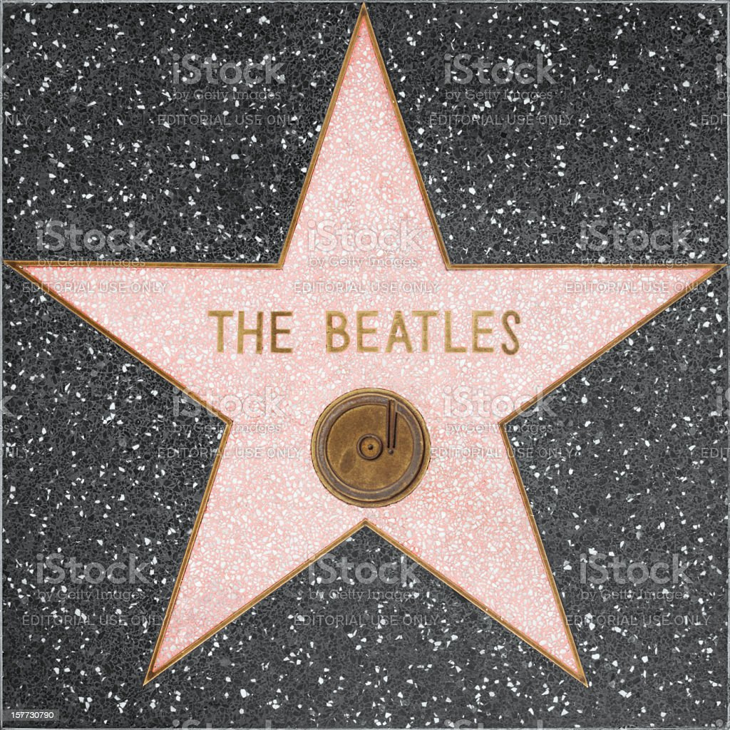 Walk of Fame Hollywood Star - The Beatles stock photo