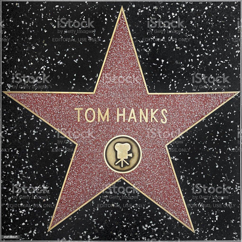 Walk of Fame Hollywood Star - Tom Hanks XXXL stock photo