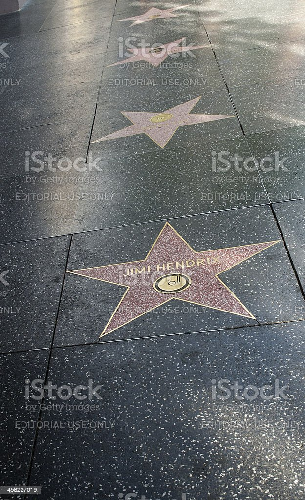 walk of fame in hollywood stock photo