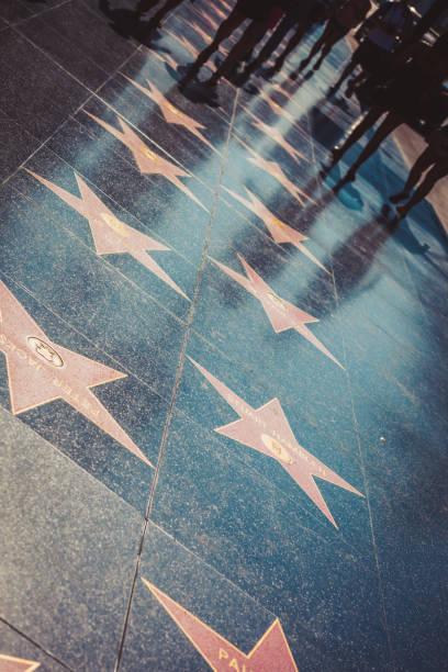 walk of fame i hollywood - celebrities of age bildbanksfoton och bilder