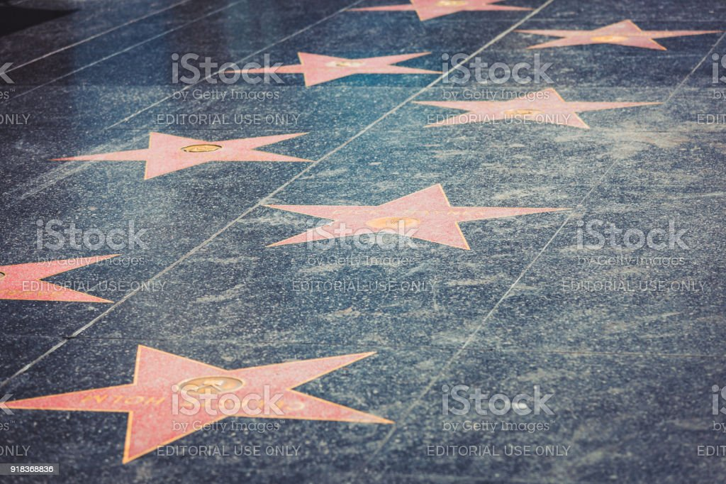 Walk of Fame in Hollywood - foto stock