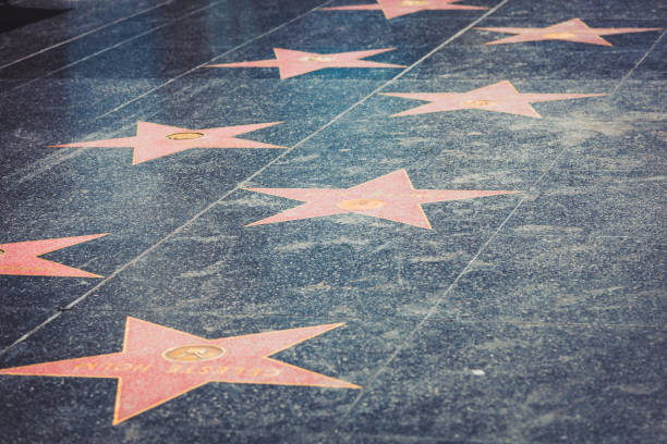 walk of fame in hollywood - fame stock photos and pictures
