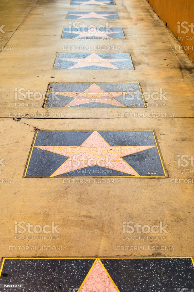 Walk of Fame in Vegas stock photo