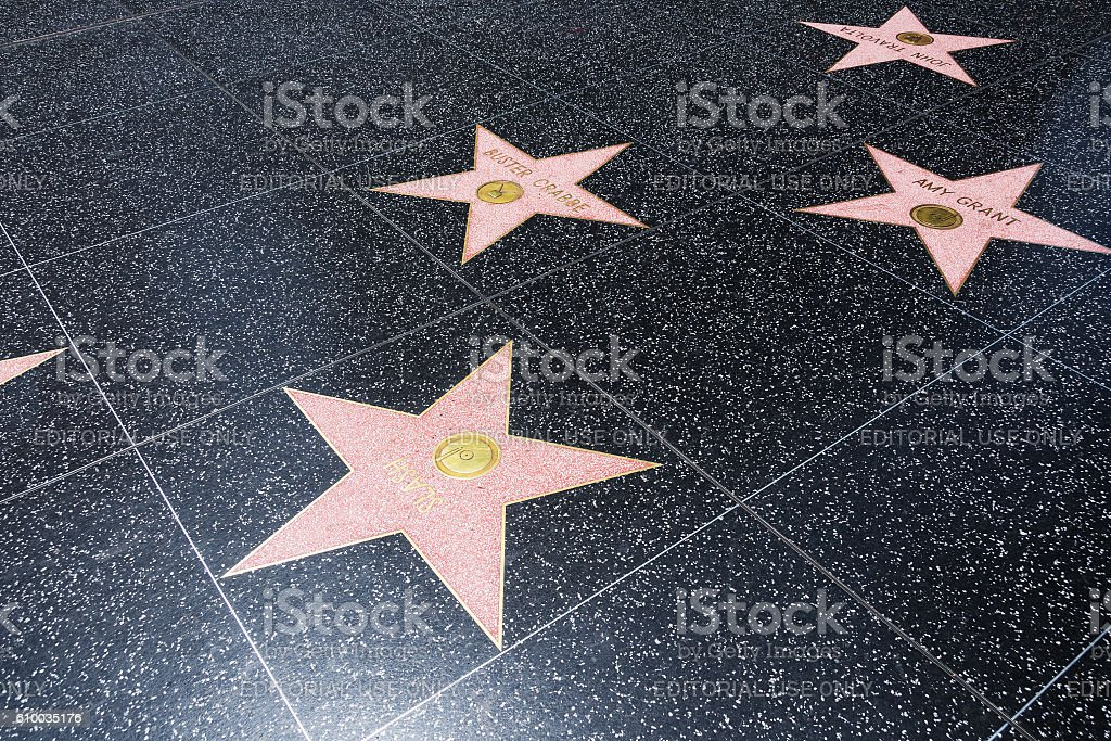 Walk of Fame Stars stock photo