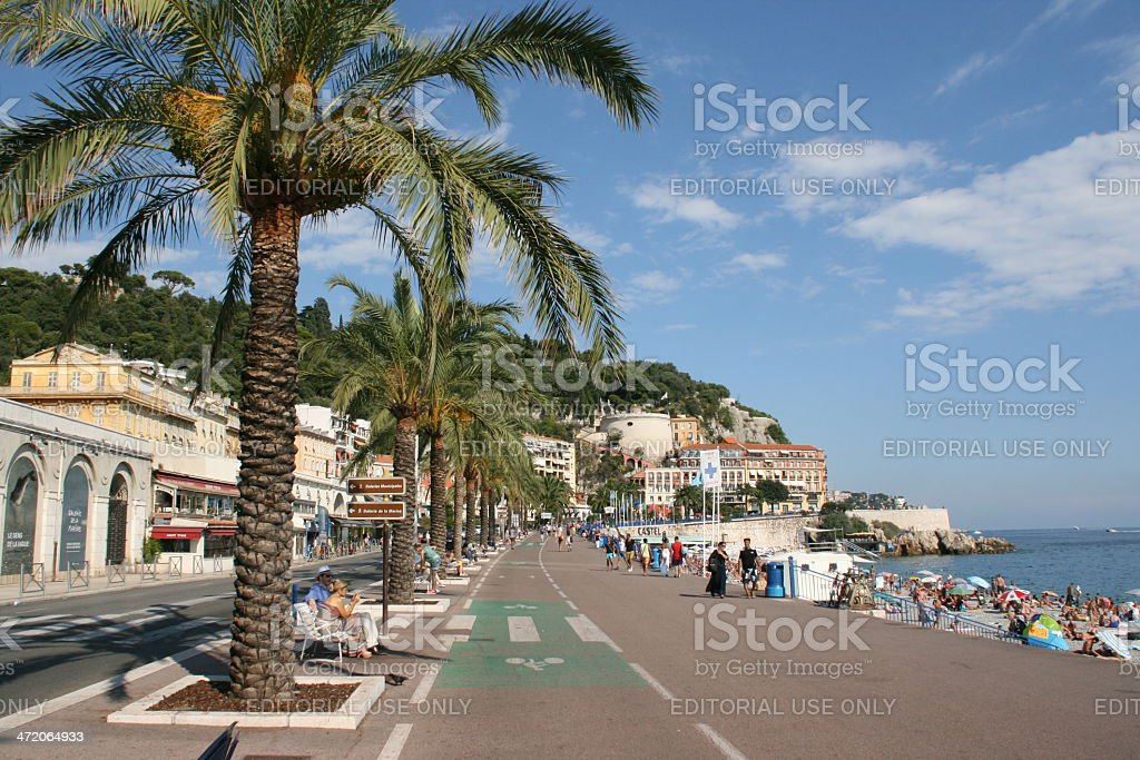 Promende des Anglais, Nice, French riviera. stock photo