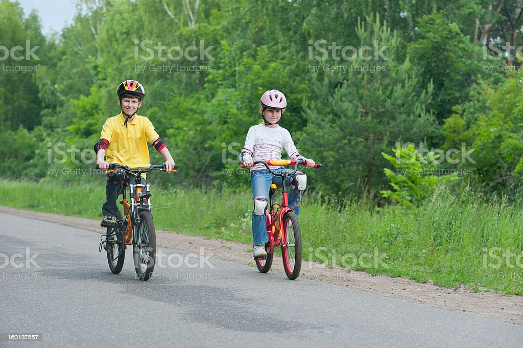 Walk on bicycles royalty-free stock photo