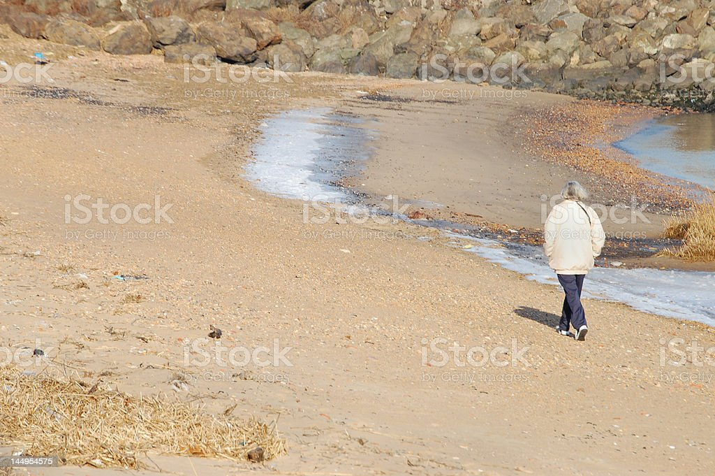 Walk On The Beach stock photo