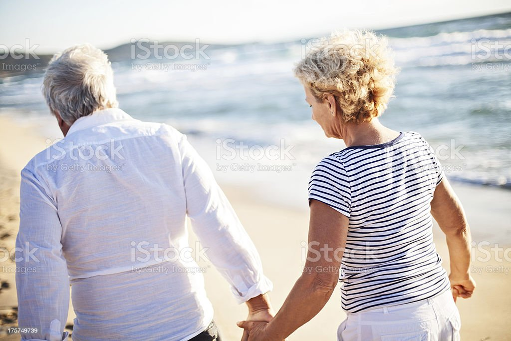 Walk on the beach royalty-free stock photo