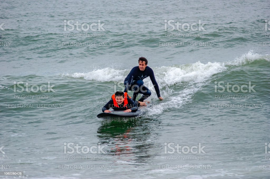 Annual surfing event held in Virginia Beach, Va for children with...