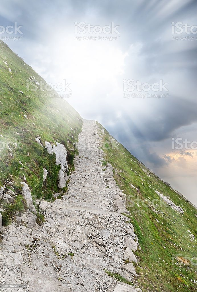 Walk path into the bright light royalty-free stock photo