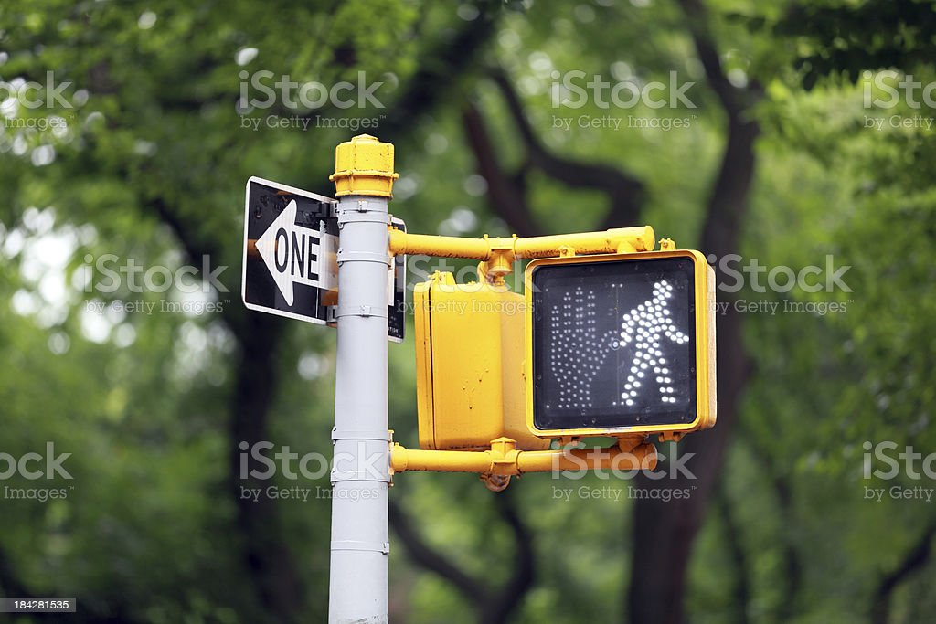 Walk Sign, New York City stock photo
